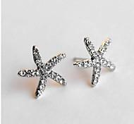 encantadores pendientes estrellas de mar taladro completo