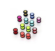 10pcs Multi Colors Stainless Steel Studs Plugs Earrings Piercings