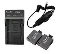 star ™ 2 Stück * 900mAh Li-Ion Akku mit uns zu stecken DSTE Dual-Slot-Ladegerät und Auto-Ladegerät für sj4000 wifi