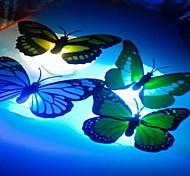 10Pcs High Quality Bionic Butterfly Button Battery A Night Light (Color Random)