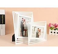 Personalized Framed Photo 7 Inches Art Design White Wooden Frame with Stand 1 Photo
