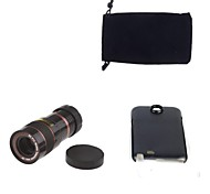 Apexel Optical 8X Zoom Telescope Lens Manual Focus with Back Case for Samsung Galaxy Note2 N7100