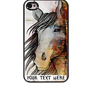 personalizzato phone caso - il caso di disegno del cavallo in metallo per iPhone 4 / 4S