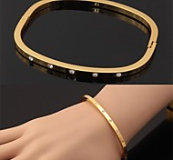 U7® New Fashion 18K Real Gold Plated Austrian Rhinestone Cuff Bracelets High Quality Bangles For Women Jewelry