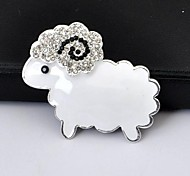 1PCS Sheep Alloy Accessories Embedded Rhinestone Handmade DIY Craft Material