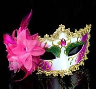Women's Fashion Flower Rhinestone Carnival Party Mask(Random Color)