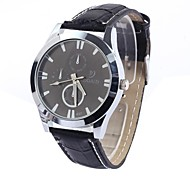 Men's  FashionLeather Strap Watch China Circular Movement Fashion Retro Wrist Watch (Assorted Colors)