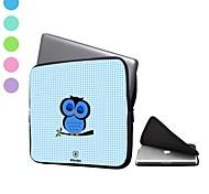 elonbo búho lindo punto de onda 13 '' bolso de la caja de la manga a prueba de agua portátil para el macbook pro / aire dell hp acer (colores