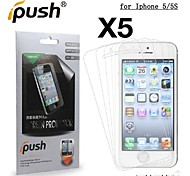 High Transparency HD LCD Screen Protector for iPhone 5/5S (5 Pieces)
