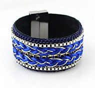 2014 New Coming Blue-Tone Multiayers Rope Magnetic Bracelet