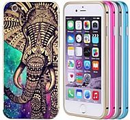 elefante lacdo® tampa traseira de alumínio caixa de metal pára-choques quadro completo para proteger iphone 6 mais (cores sortidas)