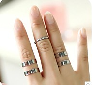 Contracted Mouth Three-Piece Joint Ring