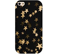 Gold Star Pattern Back Case for iPhone 4/4S
