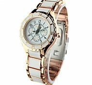 Women's Dress Watch Quartz Alloy Band Rose Gold Brand