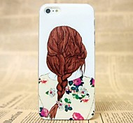 Hot Beautiful Color The Girl Back Pattern Hard Cover Case for iPhone 5/5S