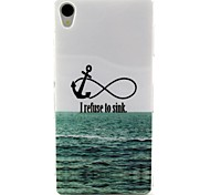 Sea Anchor Pattern Design Durable TPU Cover Case for Sony Z3
