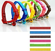 Cat / Dog Collar Adjustable/Retractable / With Bell Polka Dots Multicolor Nylon