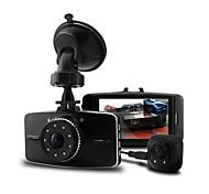 doble lente 5.0MP + 2.0MP CMOS de 140 grados HD1080P + 720p coche videocámara dvr g-sensor de visión nocturna g5wb