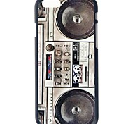 """doopootoo ™ retro de radio pintada patrón delgado de plástico cubierta de la caja dura para el iphone 6 4.7 """""""