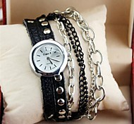 Womens'  Classic fashion leather strap watch   Round high quality Japanese watch movement