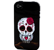 2-in-1 Cute Rose Owl Pattern TPU Back Cover with PC Bumper Shockproof Soft Case for Apple iPhone 4/4S