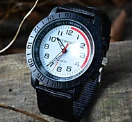 Men's Rotary Case Scale Dial Fabric Strap Outdoor Sport Wrist Watch