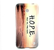 Hope Pattern TPU Solf Cover for Nokia Lumia 630/635
