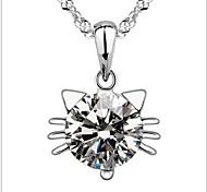 925 Sterling Silver Female Short Fashion Clavicle Pendant Necklace