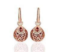 la mode géométrie goutte rose boucles d'oreilles plaqué or (or rose) (1 paire)