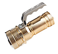 RayBow RB-678 Rechargeable 3-Mode Cree XP-G LED Flashlight(120LM,2*18650,Gold)