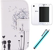 The Dandelion Lover Design PU Leather Full Body Case with Screen Protector, Stylus and Stand for LG L40