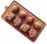 8 дыра форма автомобиля торт плесень льда желе формы шоколада, силиконовая 23 × 12 × 2,5 см (9 × 4,7 × 1 дюйм)