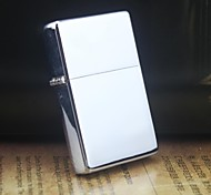Earth Slim Silver Smooth Metal Oil Lighter