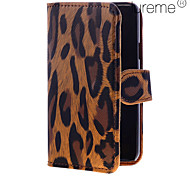 Lureme Fashionable Leopard Print PU Leather Case With Stand for Samsung Galaxy S2 I9100