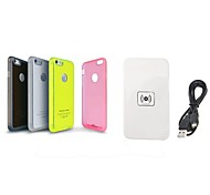 QI X5 Mobile Wireless Charger Pad + Wireless Charger Receiver Case for iPhone 6 (Assorted Color)
