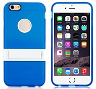 High Quality TPU Rubber Shell Cover Case with Mount Stand Function for iPhone 6  Plus (Assorted color)