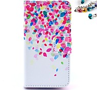 Color Spots Pattern PU Leather Full Body Case with Card Slot and Stand for iPhone 4/4S