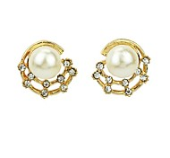 2014 Wholesale Fake Gold Plated Back Latest Design Of Pearl Earrings