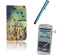 Fall PU Leather Full Body Case with Touch Pen and Protective Film 2 Pcs for Samsung Galaxy Trend Lite S7390 S7392