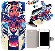 рисунок тигра рот Пу всего тела в случае с пыле Разъем для iPhone 5/5 секунд