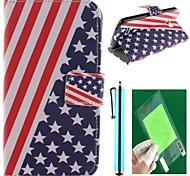 Американский флаг дизайн PU кожа полный корпусу с защитой экрана, пера и стоят для LG L80