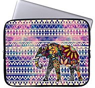 "Elonbo Tribal Stripe and Exotic Elephant 15"" Laptop Waterproof Sleeve Case for Macbook Pro Retina Dell HP Acer"
