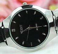 nastri acciaio tondo quadrante dell'orologio di modo del quarzo degli uomini di fascia