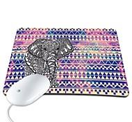 Elonbo Bohemian Tribal Stripe and Elephant PU Leather Anti-slip Mousepad Computer Mouse Pad