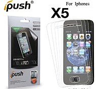 High Transparency Matte LCD Screen Protector for iPhone 4/4S (5 Pieces)