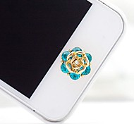 Rhinestone Wave Home Button Sticker for iphone (Random Color)