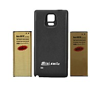 Minismile™ Replacement 8000mAh Battery and 4500mAh Battery with Back Cover for Samsung Galaxy Note 4(2Batteries+1Cover)