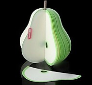 Cute Fancy Kawaii Novelty Fruit Green Pear Memo Note Pad Notepad Paper Kids Children Birthday Party Gifts Favors