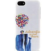 White Balloon  Pattern TPU Soft Back Cover for iPhone 5/5S