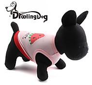 droolingdog® schöne Wassermelone Muster aus 100% Baumwolle Weste für Haustiere Hunde (verschiedene Farben sortiert Größen)
